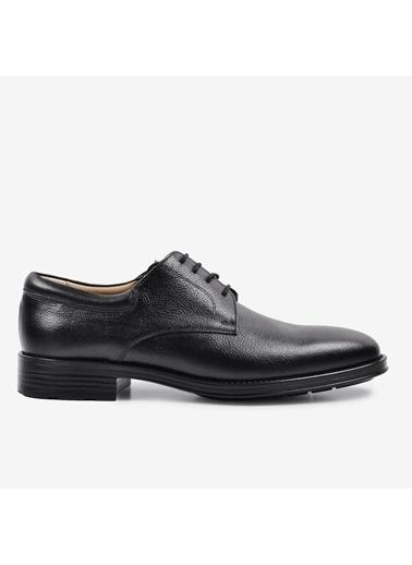 Tek Yıldız 400 Erkek Hakiki Deri Ayakkabı Siyah Siyah